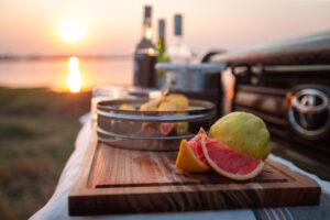 Mboma Island Camp sundowner stop