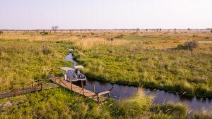 Boating in the Okavango Delta Botswana Mboma Island