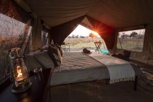 Mboma Island CampRoom at sunrise