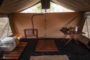 Mboma Island Camp Bathroom