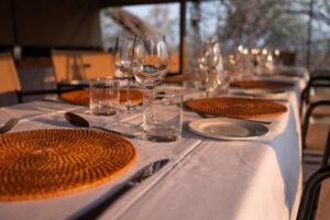 Mboma Island Camp Dining area